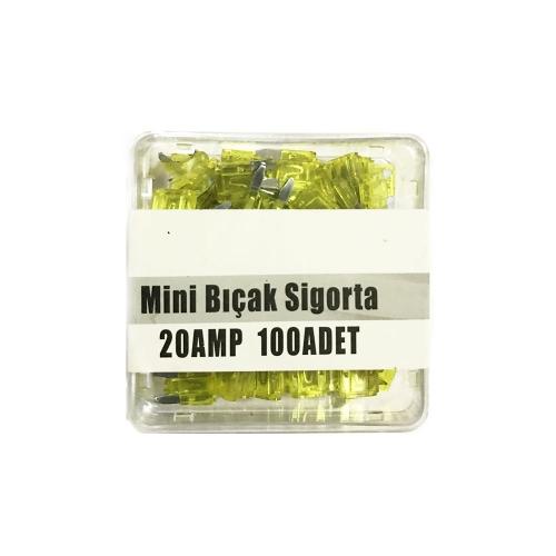 20 AMP Mini Bıçak Sigorta 100 Adet